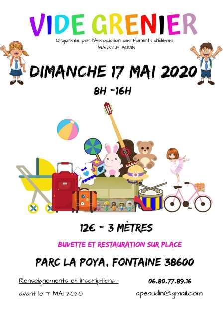 Photo ads/1609000/1609098/a1609098.jpg : VIDE GRENIER – 17 mai 2020 – Fontaine